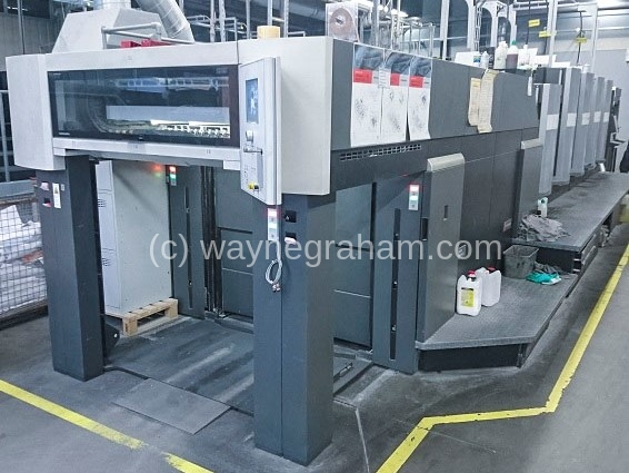 Image of Used Heidelberg Speedmaster CX 102-4-LX Four Colour Printing Press With Coater