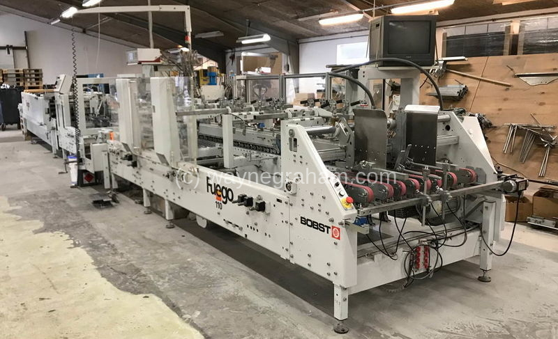 Image of Used Bobst Fuego 110 A2 Folding Carton Gluer